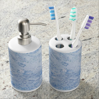 Stone Pattern Toothbrush Holder and Soap Dispenser