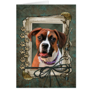 Stone Paws - Boxer - Lucy Card
