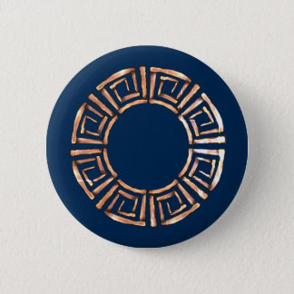 Stone Retro Greek Disc 6 Cm Round Badge