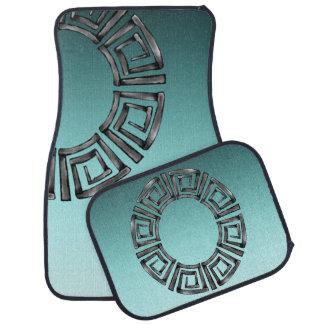 Stone Retro Greek Disc Car Mat