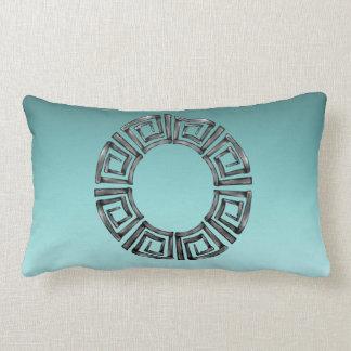 Stone Retro Greek Disc Lumbar Cushion