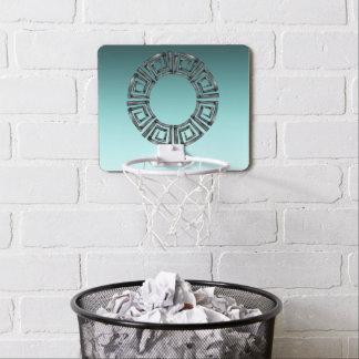 Stone Retro Greek Disc Mini Basketball Hoop