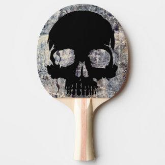 Stone skull ping pong paddle