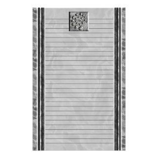 Stone Spiral Lined Stationery Paper