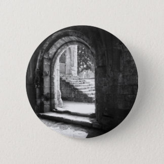 Stone Stairs In Fountains Abbey 6 Cm Round Badge