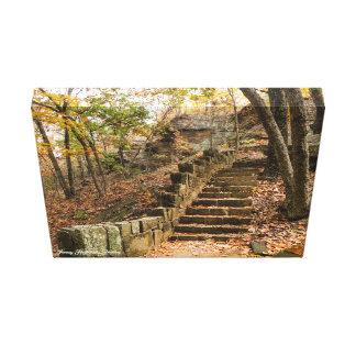 Stone Stairway - Heavener, OK Canvas Print
