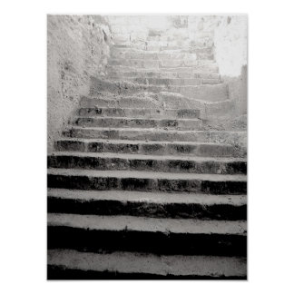 Stone Stairway Travel Photograph Poster