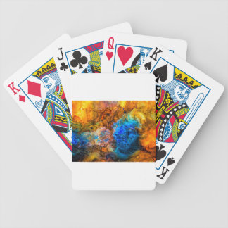 Stone texture paint bicycle playing cards
