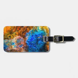 Stone texture paint luggage tag