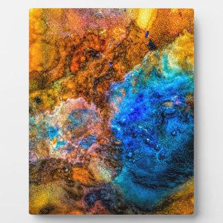 Stone texture paint plaque