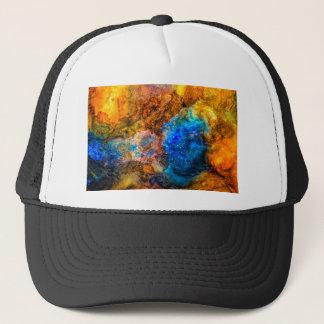 Stone texture paint trucker hat