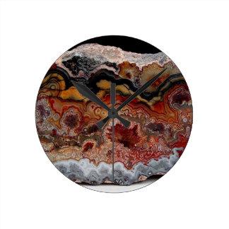 stone texture round clock