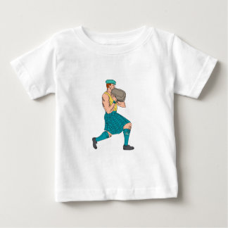 Stone Throw Highland Games Athlete Drawing Baby T-Shirt