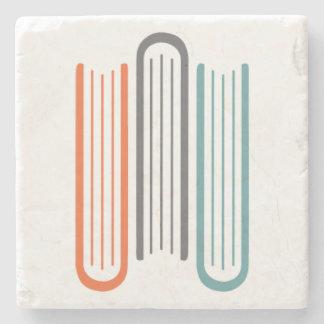 Stone Tile Coaster 3 Books WNBA Logo