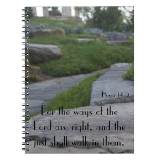 Stone Walk Notebook with KJV Scripture