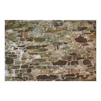STONE WALL 5 Feet Wide x 30 inches Tall +Smaller Poster