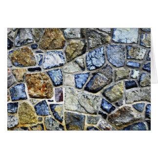 stone wall abstract greeting card