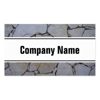 Stone wall business card template