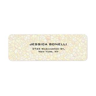 Stone Wall Elegant Modern Trendy Minimalist Return Address Label