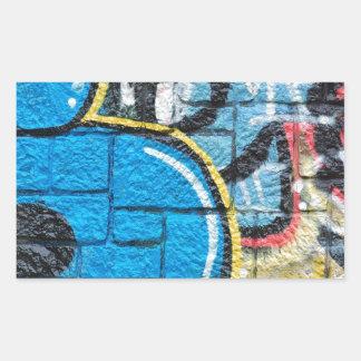 stone wall graffiti rectangle sticker