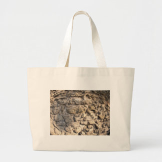 Stone wall of the large rough stones gray jumbo tote bag