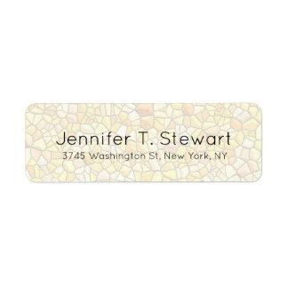 Stone Wall Trendy Chic Modern Professional Elegant Return Address Label