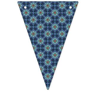 Stone Wonder Blue Vintage Kaleidoscope Flags