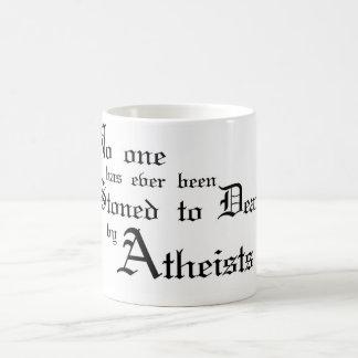Stoned by Atheists Mug