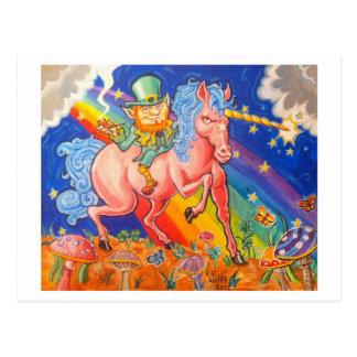 Stoned Leprachaun Postcard