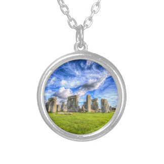 Stonehenge Ancient Britain Silver Plated Necklace