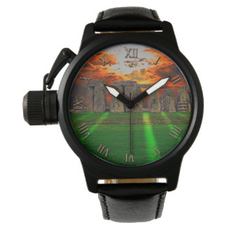 Stonehenge at Sunset Ancient History-lover's Wrist Watch