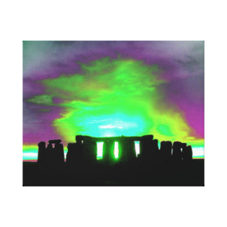 Stonehenge Aurora Wrapped Canvas Stretched Canvas Prints
