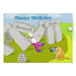 stonehenge birthday grandson card