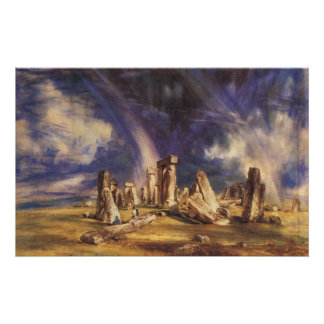 Stonehenge - by: John Constable Poster