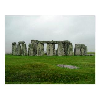 StoneHenge England PreHistoric Monument Wonders Postcard