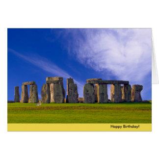 Stonehenge image for Birthday greeting card