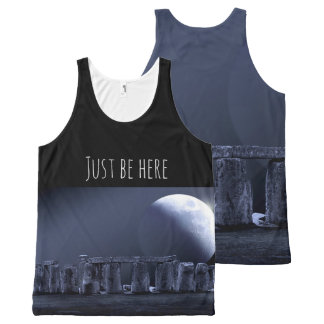 STONEHENGE JUST BE HERE Mindfulness Gift Moonlight All-Over Print Singlet