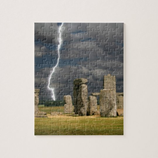 Stonehenge Lightning Jigsaw Puzzle