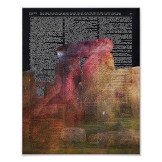Stonehenge Magic Place  Dictionary Art Photo