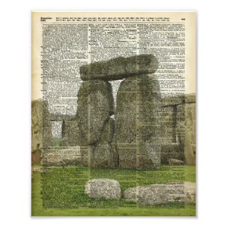 Stonehenge over Dictionary page Photo Art