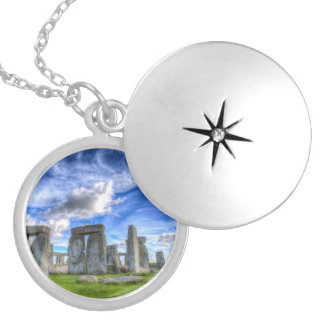 Stonehenge Silver Plated Necklace