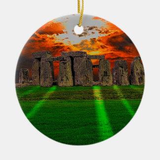 Stonehenge Standing Stones at Sunset Christmas Tree Ornaments