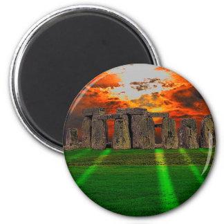 Stonehenge Standing Stones at Sunset Magnet