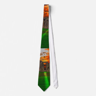 Stonehenge Standing Stones at Sunset Tie