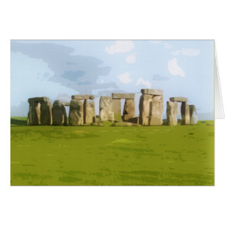Stonehenge Stone Circle Monument Card