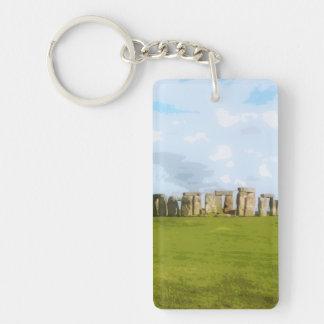 Stonehenge Stone Circle Monument Double-Sided Rectangular Acrylic Key Ring