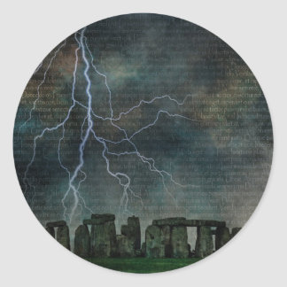 Stonehenge Storm Classic Round Sticker