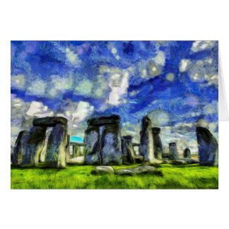 Stonehenge Vincent Van Gogh Card