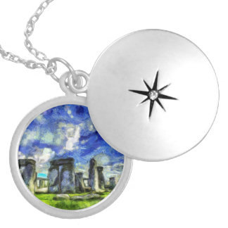 Stonehenge Vincent Van Gogh Locket Necklace