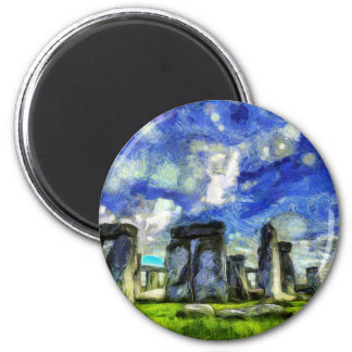 Stonehenge Vincent Van Gogh Magnet